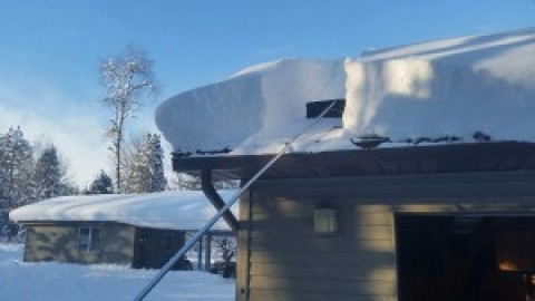 14″ of Snow Fell Overnight – Check Your Roof
