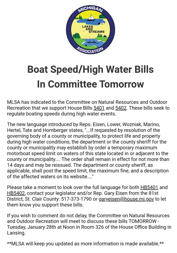 Possible High Water Speed Limits