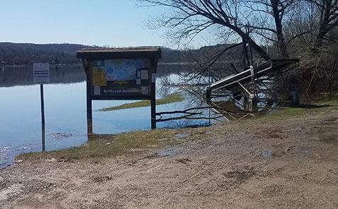 Flooding on Six Mile Lake